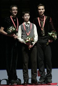 Podium canadien novice homme